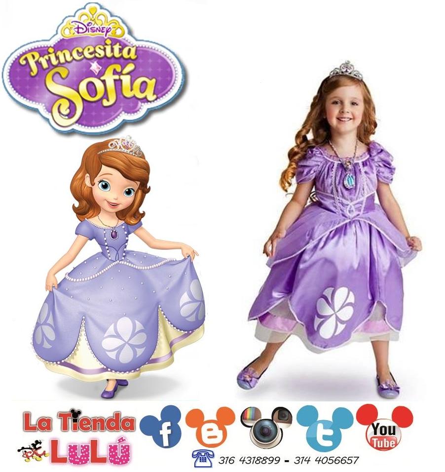 372477f4f Disfraz de Princesa Sofía Disney Original Corpiño de velvetón brillante.  Piedra preciosa de imitación de Sofía en forma de corazón, a juego con los  zapatos ...