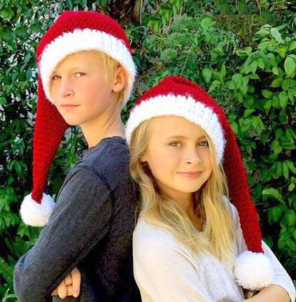long santa christmas hat crochet pattern