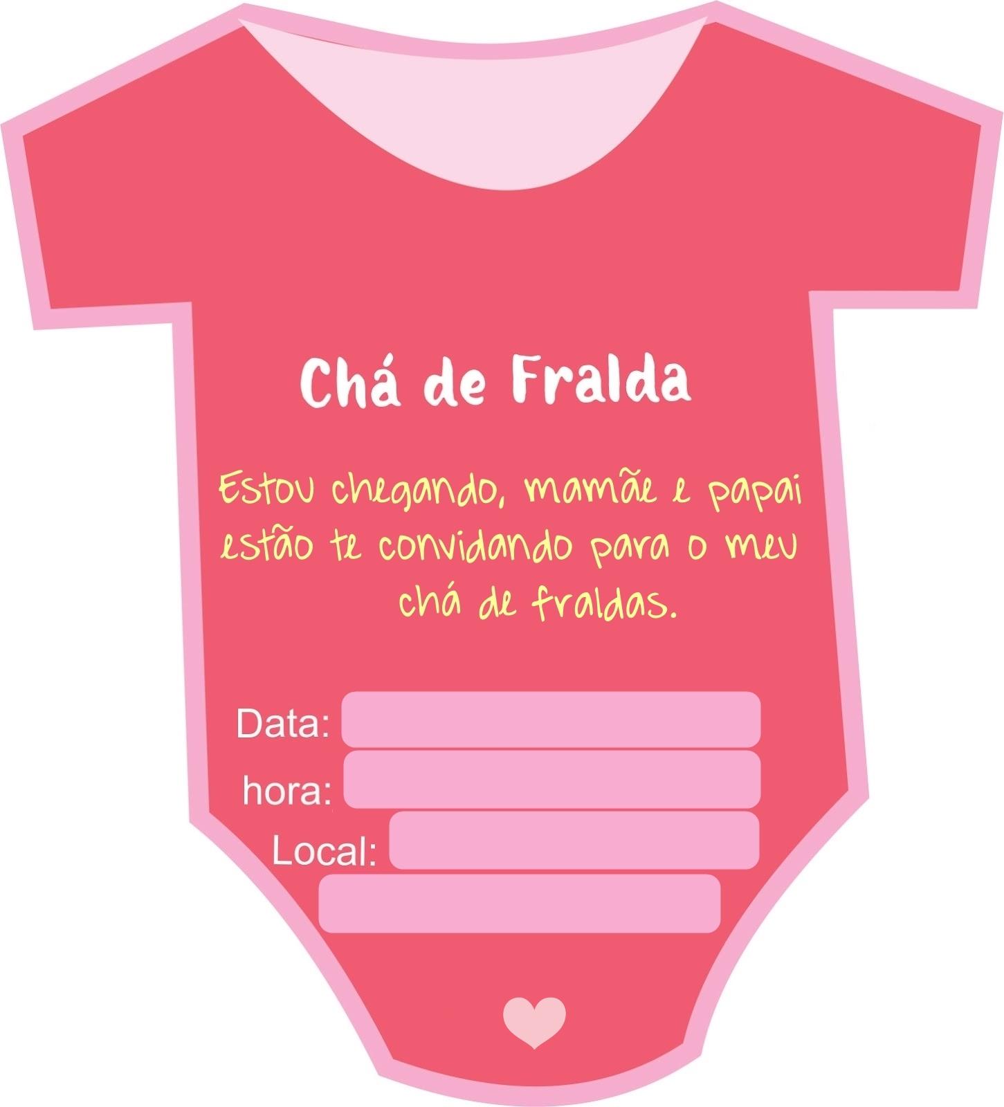 Oliveira Fashionando Convite Body Cha De Bebe Cha De Fraldas