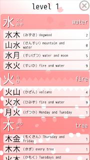Kasui Jukugo Stats level 1