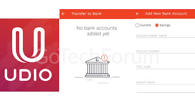 Transfer Money From Credit Card to Bank Account Using Udio Mobile Wallet