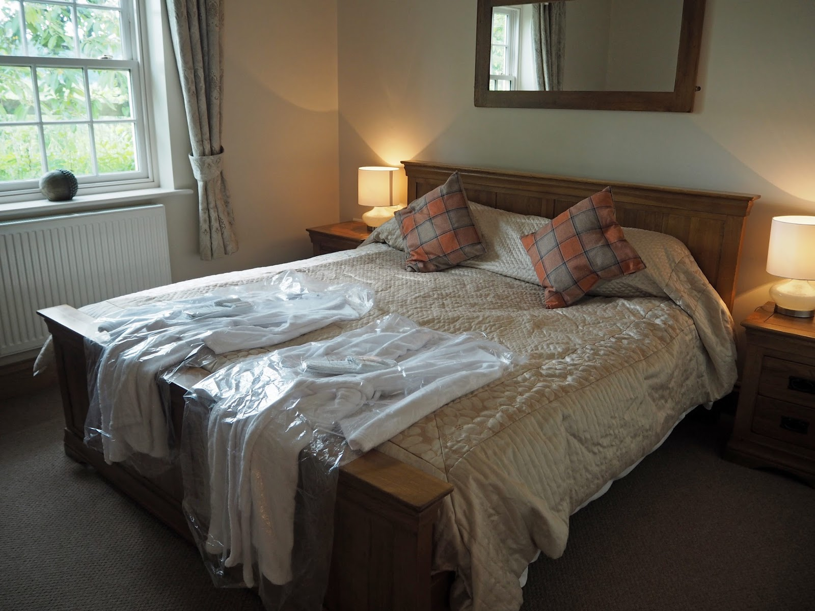 Bedroom Ox Pasture Hall Country Hotel, Scarborough, Yorkshire, romantic hotel near beach in Scarborough