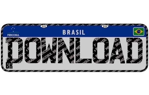 Placa Mercosul Brasil (3D Model)