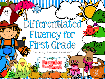 http://www.teacherspayteachers.com/Product/Differentiated-Fluency-for-Firsties-December-March-1036359