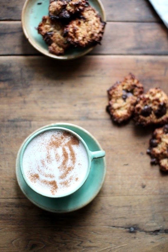 Menorah latte! (with Passover coconut cookies) | Land of Honey
