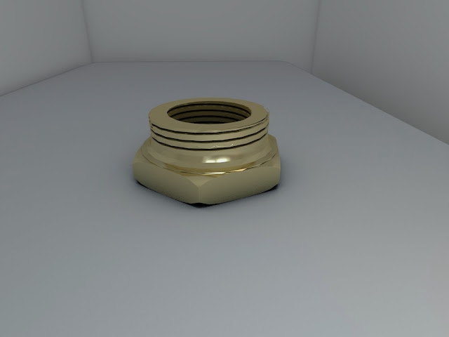 AutoCAD 3D y Render - pieza 5 - Reducción hexagonal