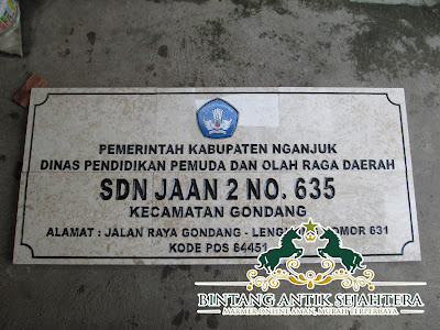 Papan Nama Marmer Surabaya, Harga Papan Nama Marmer