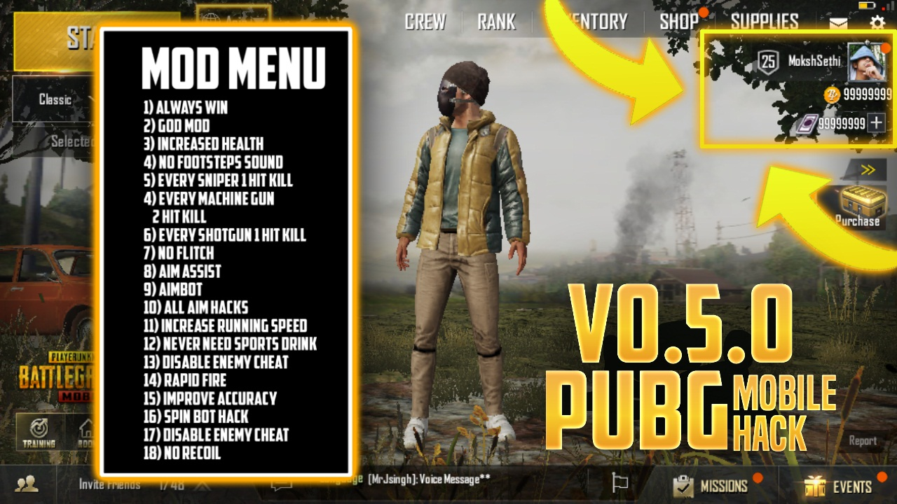 How To Get Ultra Hd Graphics In Pubg Mobile 0 7 5 Pubg: PUBG Mobile MOD V0.5.0 Apk (1 HIT KILL, UNLIMITED HEALTH