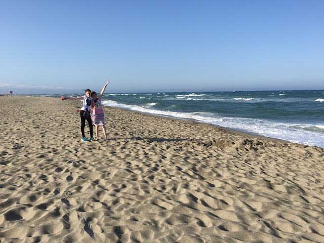 stephs two girls on sandy beach