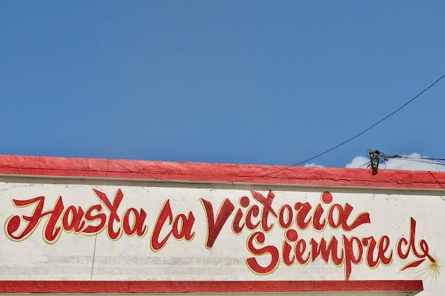 Frase famosa de Che Guevara, em Santa Clara.