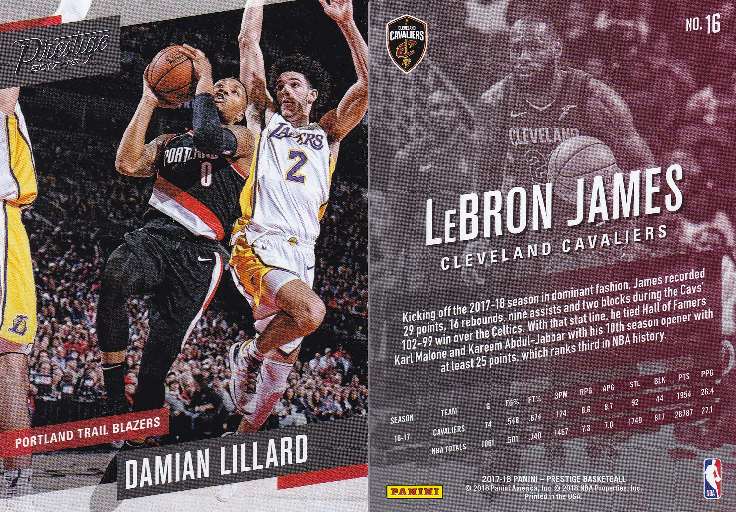 d557d56a4 Grabbed two packs of the 2017-2018 Prestige basketball for a total of 60  cards. I really liked last year s Prestige offering so I was curious to see  if they ...