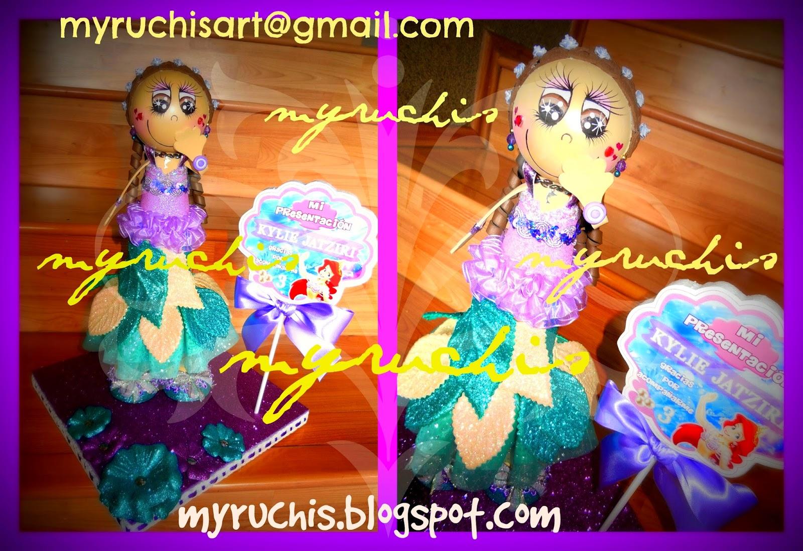 Myruchis: Centros De Mesa Infantiles. Ariel Vestido De Gala