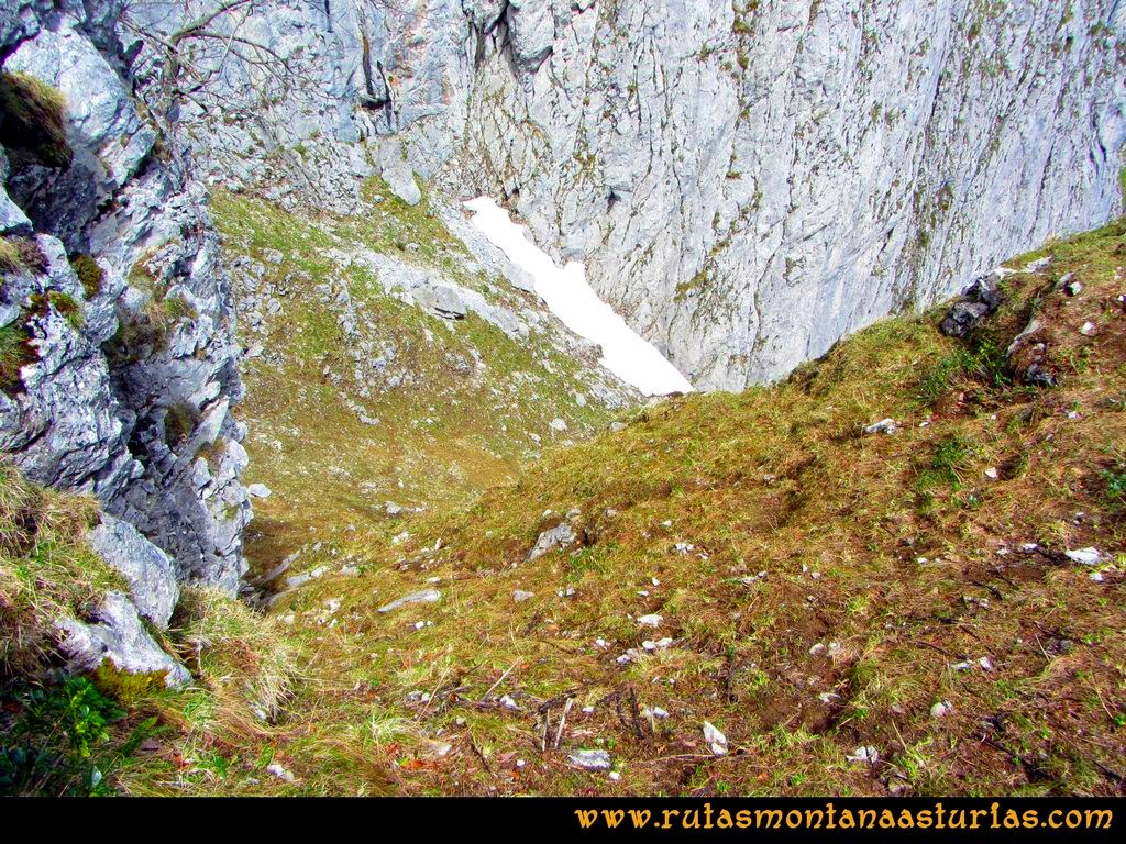 Ruta Peña Redonda: Vistazo subido por la canal