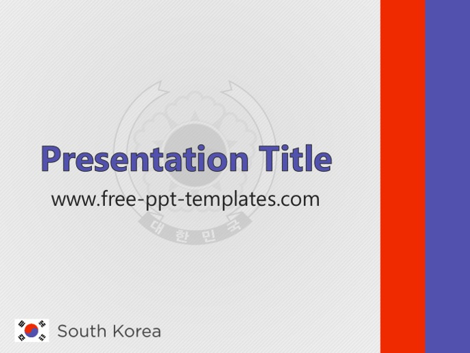 South korea ppt template toneelgroepblik Image collections