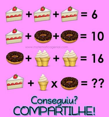Desafio: Bolo, sorvete e rosquinha