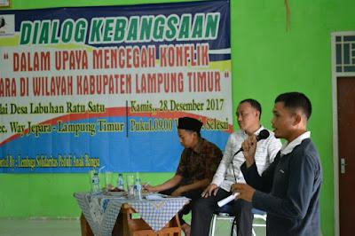 Komunitas Peduli Masyarakat (KPM) Lampung Timur Adakan Dialog Kebangsaan