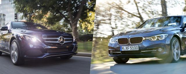Mercedes C200 và BMW 320i