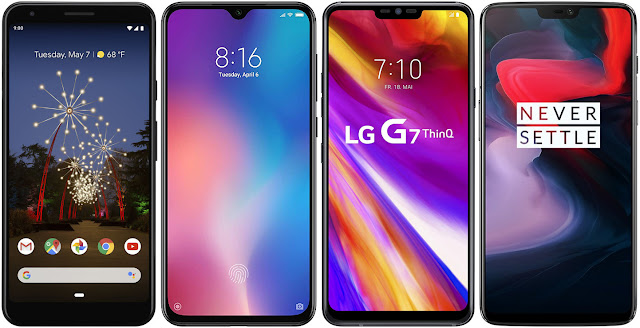 Google Pixel 3a vs Xiaomi Mi 9 SE vs LG G7 ThinQ vs OnePlus 6