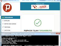 Kartu Telkomsel OPOK menggunakan Psiphon Pro Nopember 2017