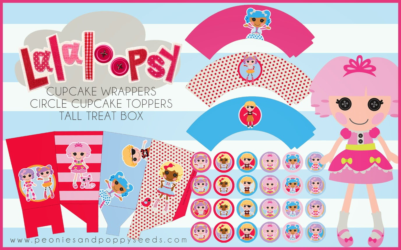 Lalaloopsy Free Printable Mini Kit.