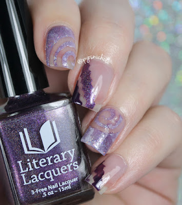 40 Great Nail Art Ideas: Three Shades of Purple + Negative Space