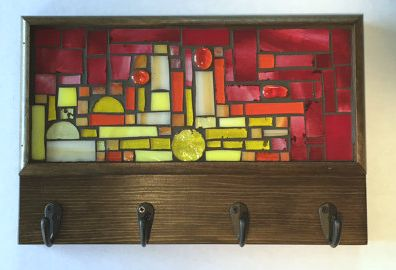 Mosaic glass key rack - D. Lawless Hardware