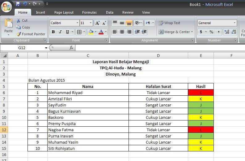 Cara Membuat Cell Otomatis Berwarna pada Excel | TUTORIAL EXCEL