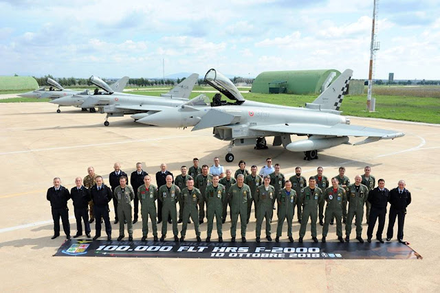 ITALIAN EUROFIGHTER FLEET REACHES 100,000 FLIGHT HOURS