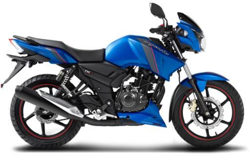 TVS Apache RTR 160 matt blue edition image
