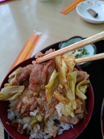 豚キムチ丼の写真