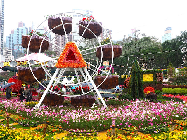 Floral ferris wheel at Hong Kong Flower Festival 2017