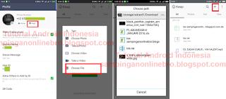 upload file untuk dikirim ke teman line
