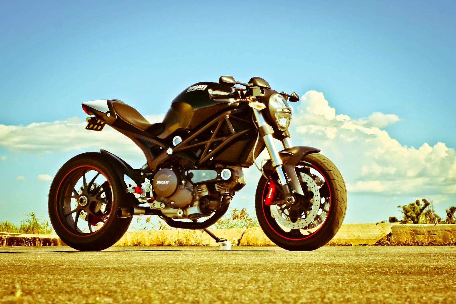 Ducati Monster 696 Cafe Racer - Grease n Gas