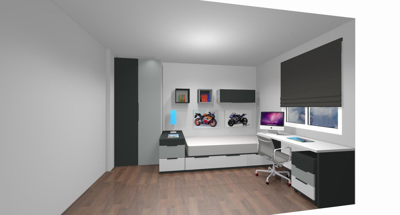 Como decorar un dormitorio juvenil - Habitaciones en blanco ...