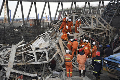 67 People died in east China scaffolding collapse on Thursday