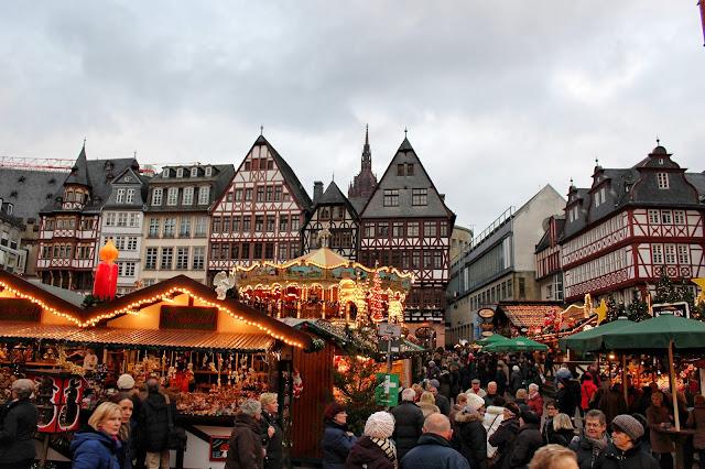 Mercadillo Navidad Romerplatz Frankfurt