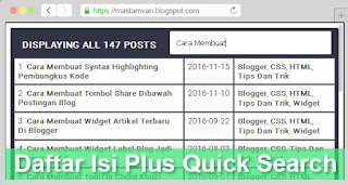 sitemap table para blogger fast loading