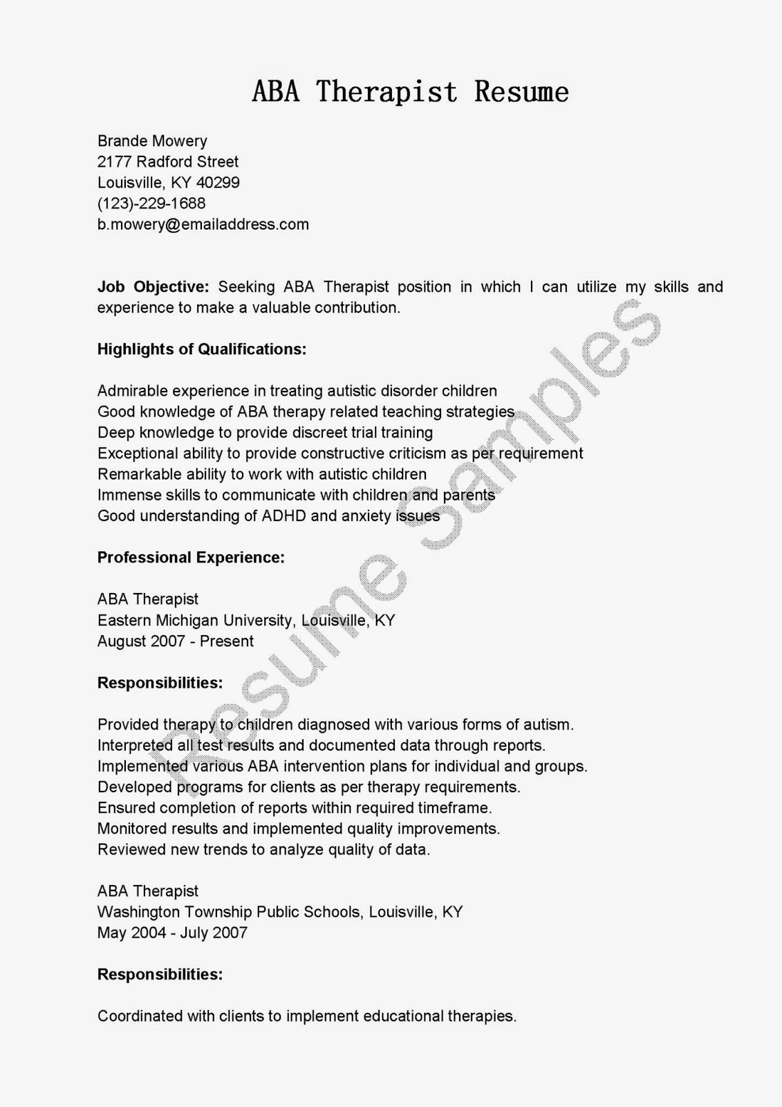 resume templates substance abuse counselor. counselor cover ...
