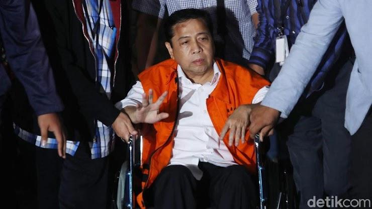 Tiba di KPK, Benjol Sebesar Bakpao di Kepala Novanto Telah Menghilang Tanpa Bekas