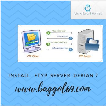 Install  dan  Konfigruasi  FTP  Server  Debian  7