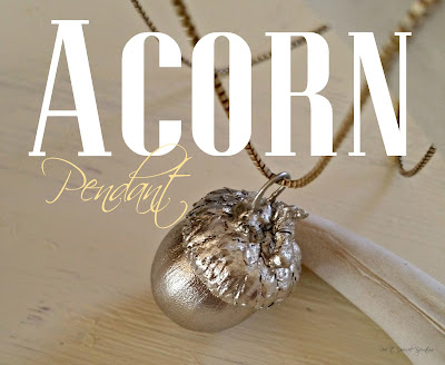 silver acorn necklace