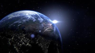 El planeta tierra en el espacio