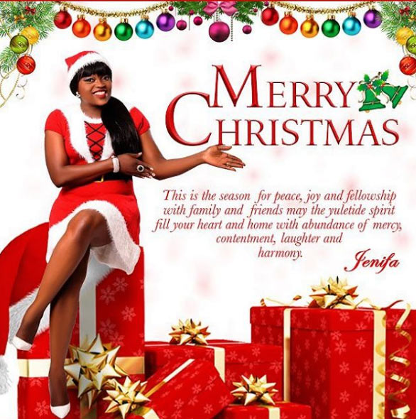 Christmas: Funke Akindele visits orphanage wearing Santa outfit