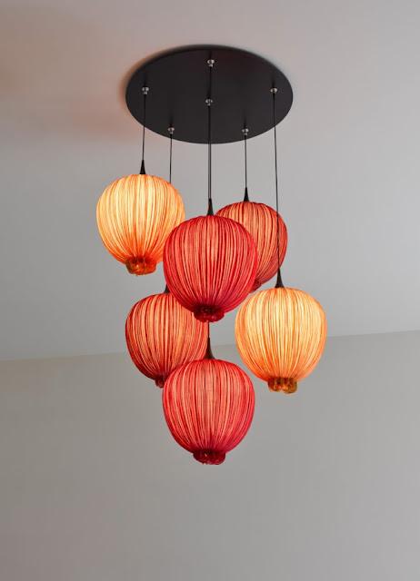 K'Mich Weddings - wedding planning - cloth chandelier