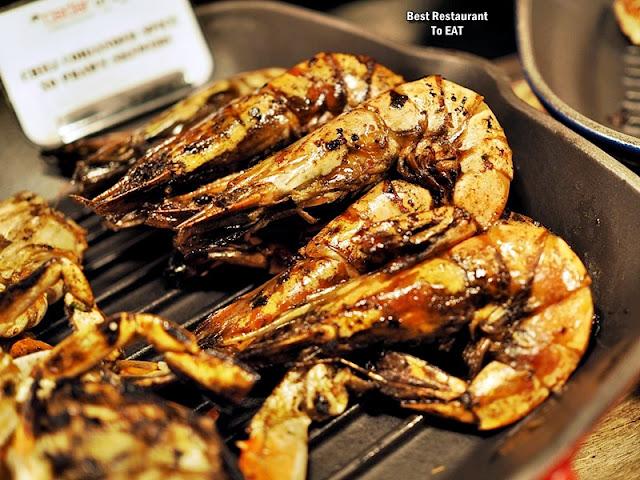 BBQ BUFFET Seafood  Menu - Chilli Coriander Spiced XO Prawn Skewers