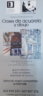 Clase de Dibujo y Acuarela impartida por Carlos Puente Ortega.