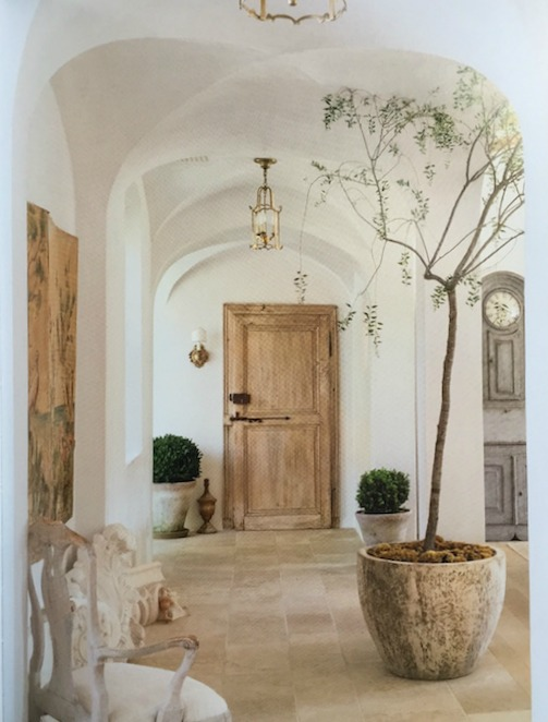 image result for Patina Farm Brooke Giannetti laundry room hallway antique door limestone