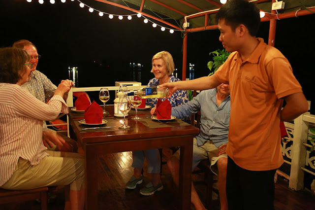 Amazing Dinner On Top Deck In Halong Bay 1