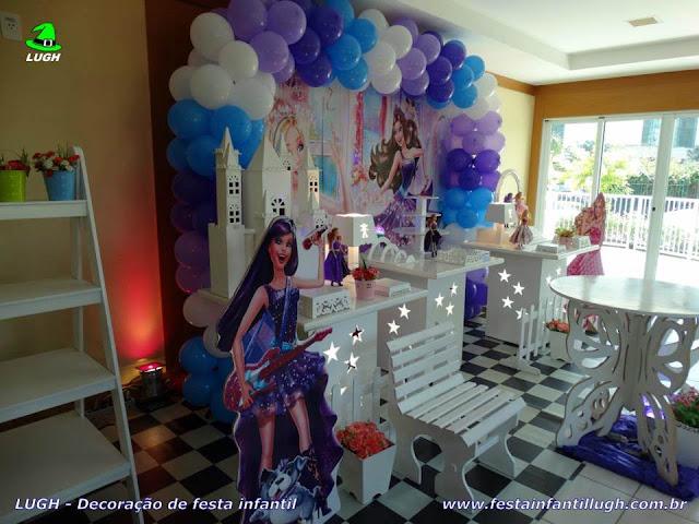 Decoração Barbie Pop Star e a Princesa - Festa de aniversário infantil -  Provençal simples