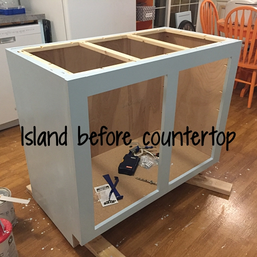 island before countertop